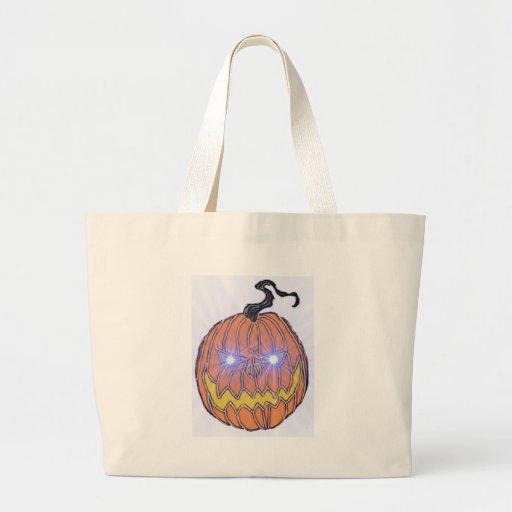 Arte malvado de la calabaza de Halloween Bolsas De Mano