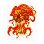 Arte malvado del demonio postales