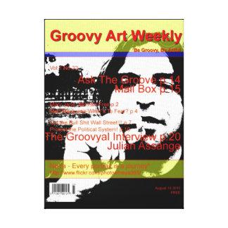 Arte maravilloso semanal lienzo envuelto para galerías