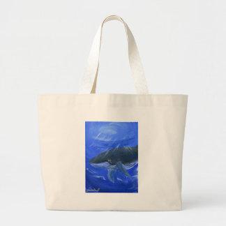 Arte marino Gunilla Wachtel de la ballena jorobada Bolsa De Mano