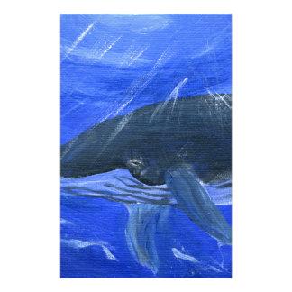 Arte marino Gunilla Wachtel de la ballena jorobada Papelería De Diseño