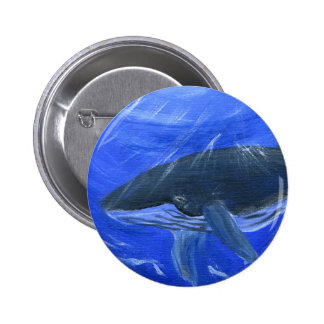 Arte marino Gunilla Wachtel de la ballena jorobada Pin