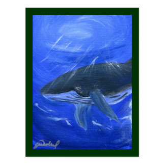 Arte marino Gunilla Wachtel de la ballena jorobada Postales