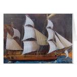 Arte marítimo de la botella tarjeta de felicitación