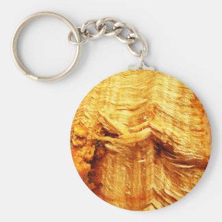 Arte marrón oxidado arrugado envuelto del papel vi llavero redondo tipo pin