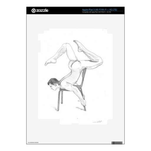Arte masculino gay desnudo atractivo pegatina skin para iPad 3