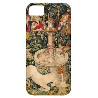 Arte medieval de las tapicerías del unicornio iPhone 5 fundas