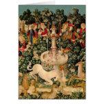 Arte medieval de las tapicerías del unicornio felicitación