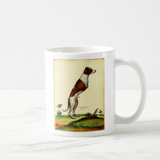 Arte medieval del perro de dos piernas del vintage taza de café