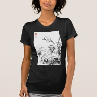 Arte Meditating del samurai Camiseta