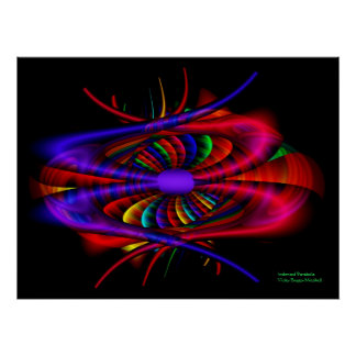 Arte mellado del fractal de la multa de la póster