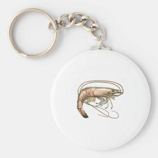 Arte meridional del camarón llavero redondo tipo pin