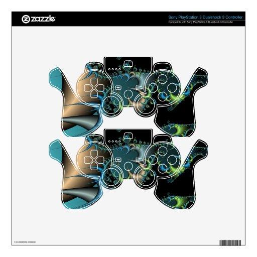 Arte metálico del fractal mando PS3 calcomanías