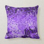 Arte metálico púrpura del pixel del extracto del b almohadas