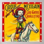 Arte mexicano del poster del vintage del circo del