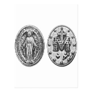 Arte milagroso de la medalla postal