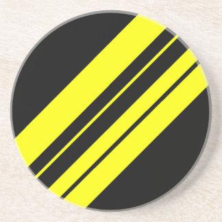 Arte minimalista amarillo de 45 grados posavasos personalizados