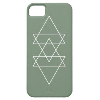Arte mínimo del triángulo de la verde salvia iPhone 5 Case-Mate cárcasa