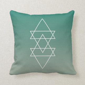 Arte mínimo verde moderno geométrico de Seafoam Cojín