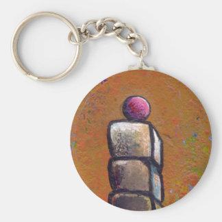 Arte minúsculo #369 - apilando encima de la llavero redondo tipo pin