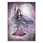 Arte místico de la hada de la fantasía de la luna  felicitacion