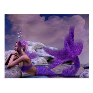 Arte místico de la sirena de la fantasía de la tarjeta postal