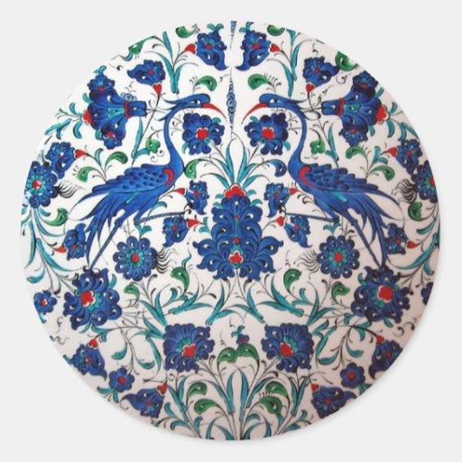 Arte mitológico de la teja del diseño del pájaro d etiqueta