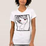 Arte modelo de la colegiala joven de Manga de Camisetas