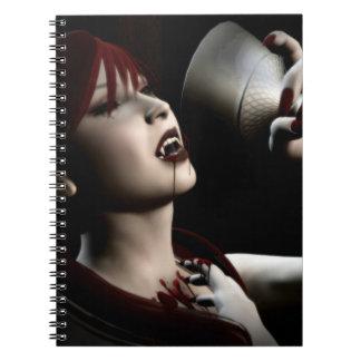 Arte modelo del gótico del vampiro del hambre notebook