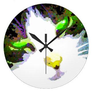 Arte moderno abstracto Acryllic del diseño gráfico Reloj