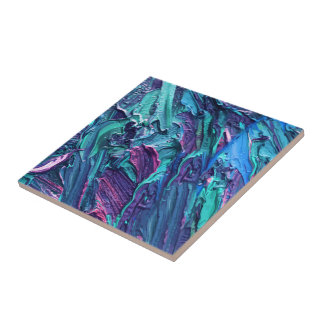 Arte moderno artsy azulejo cuadrado pequeño