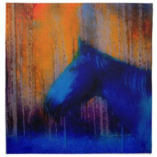 Arte moderno corriente del semental y del caballo servilletas