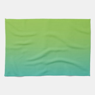 Arte moderno de la acuarela azul verde del trullo toalla de cocina