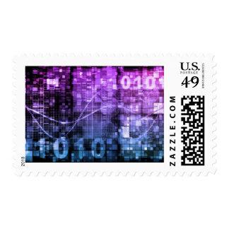 Arte moderno de la investigación de la ciencia y sello