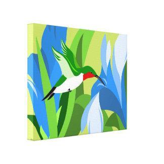 Arte moderno de la lona del colibrí lona envuelta para galerías
