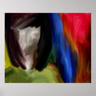 arte moderno de las expresiones de la cara