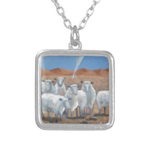 Arte moderno de las ovejas y del tornado colgante cuadrado