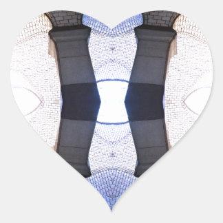 Arte moderno de los puntos de vista urbanos calcomanía corazón personalizadas