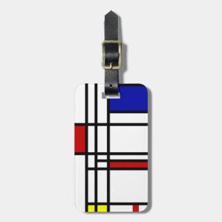Arte moderno de Mondrian Etiquetas Para Maletas