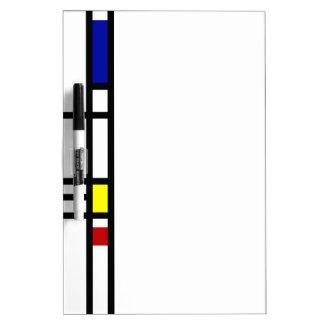 Arte moderno de Mondrian Pizarras Blancas De Calidad