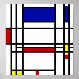 Arte moderno de Mondrian Poster
