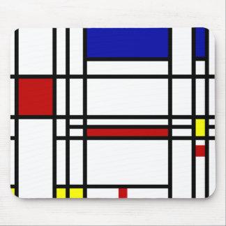 Arte moderno de Mondrian Tapete De Ratón
