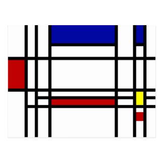 Arte moderno de Mondrian Postal