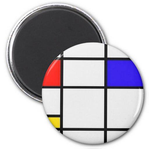Arte moderno de Piet Mondrian Imanes