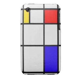 Arte moderno de Piet Mondrian iPhone 3 Case-Mate Cárcasas