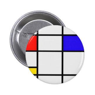 Arte moderno de Piet Mondrian Pins