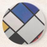 Arte moderno de Piet Mondrian Posavaso Para Bebida