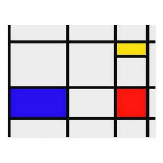 Arte moderno de Piet Mondrian Tarjetas Postales
