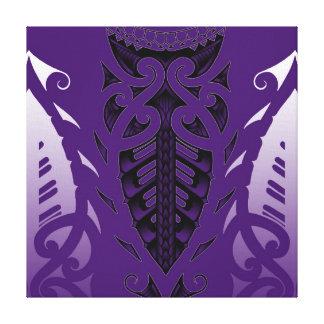 Arte moderno del diseño maorí tribal del tatuaje impresion de lienzo