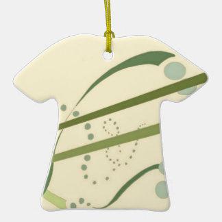 Arte moderno del extracto amarillo del verde verde adorno de cerámica en forma de playera